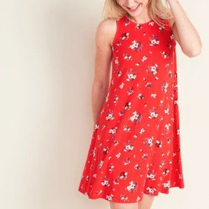 Old Navy Sleeveless Swing Dress Red XS Petite NEW